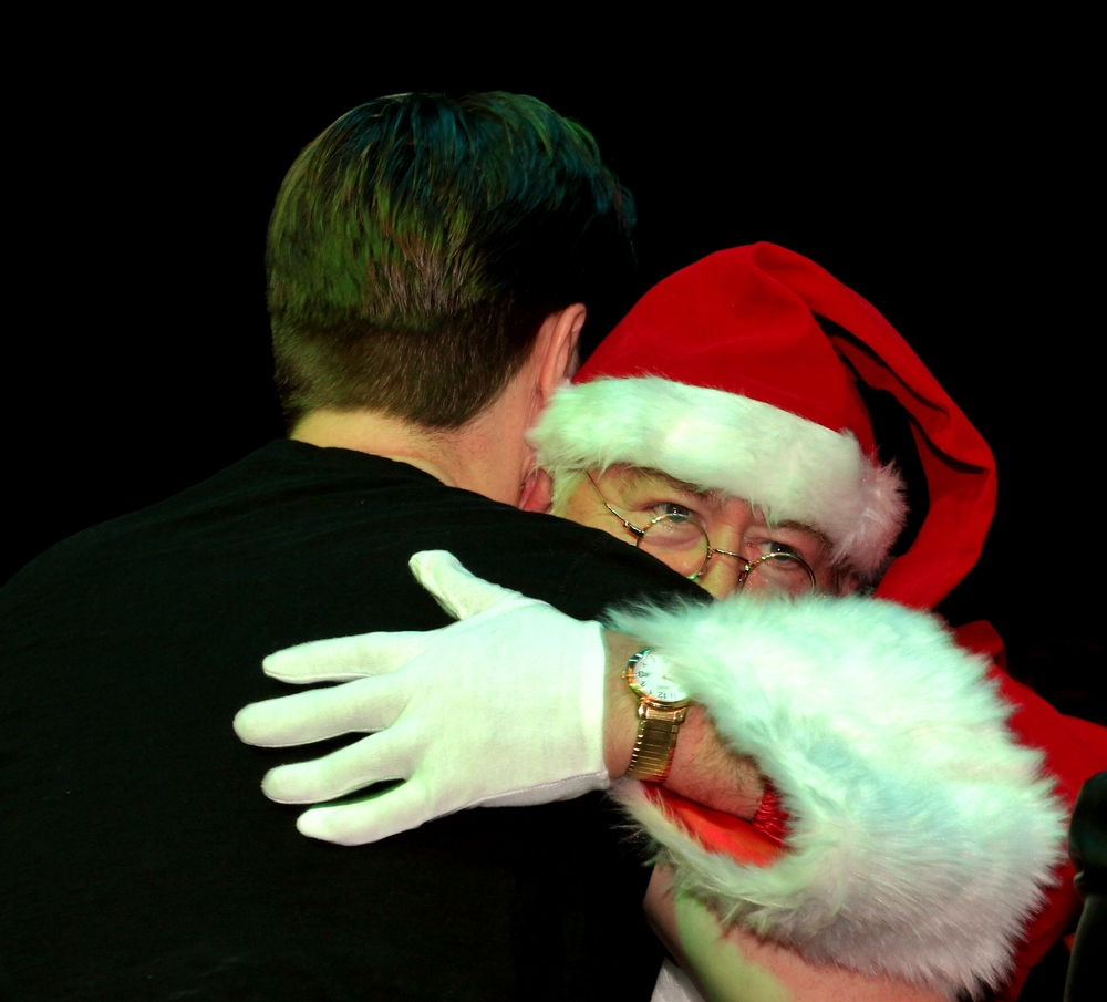 Whispering his Christmas wish... :)