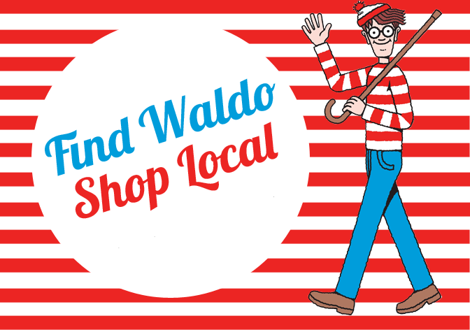 It's that time again! Waldo's back in downtown Thomasville, and you -- and your kiddos -- can find him hiding in 25 downtown shops (including ours!). To get started, pick up your Waldo passport at The Bookshelf, then visit other participating stores to get stamps and signatures. Kids who find Waldo in 20 or more stores get a prize, plus are entered in our drawings for our big Waldo party on Saturday, July 30. Stop by the shop if you've got any questions!