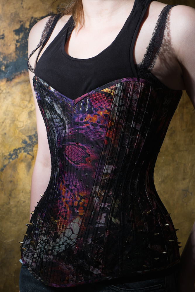 """Python"", a contemporary Birds Wing corset by Sparklewren."