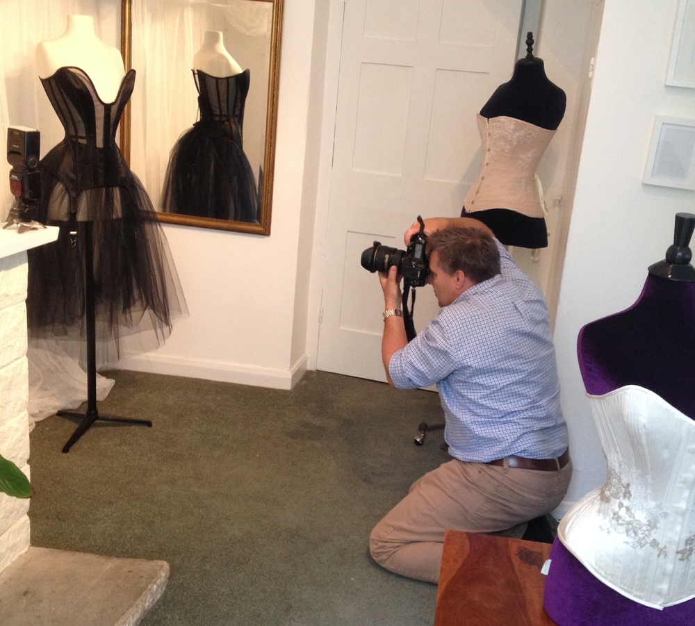 Pre-press photography and reporting at the Sew Curvy Studio before the conference.  This appeared in the  Oxford Mail