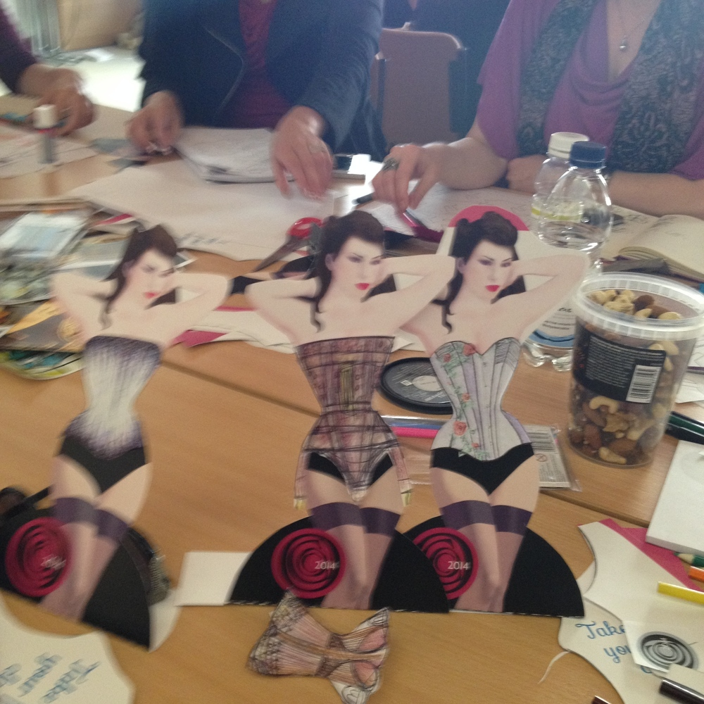 paper dolls,  colouring pencils and beautiful surroundings bring out everyone's creativity!