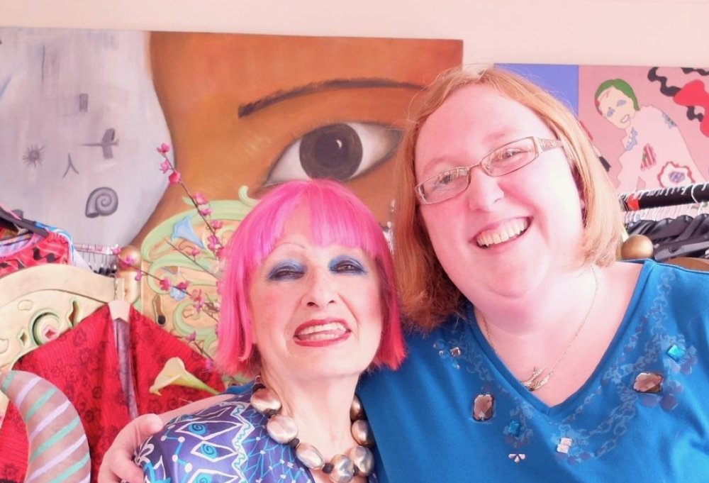 Fiona with fashion icon, Zandra Rhodes, October 2014