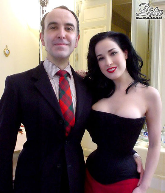 Mr Pearl with Dita von Teese.