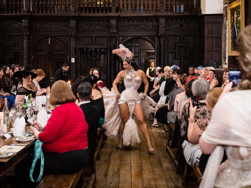 special guest Immodesty blaize performing at ococ'15 wearing an outfit by the whitechapel workhouse photo creidit: chris murray