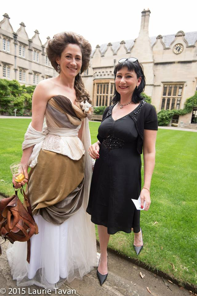 Cathy Hay with our organiser and Director Julia Bremble at OCOC'15. Image copyright Laurie Tavan 2015