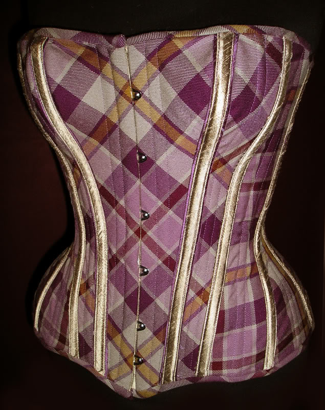 Tartan corset by Crikey Aphrodite. This is a modern tartan from Anta.  Image copyright Alison Campbell