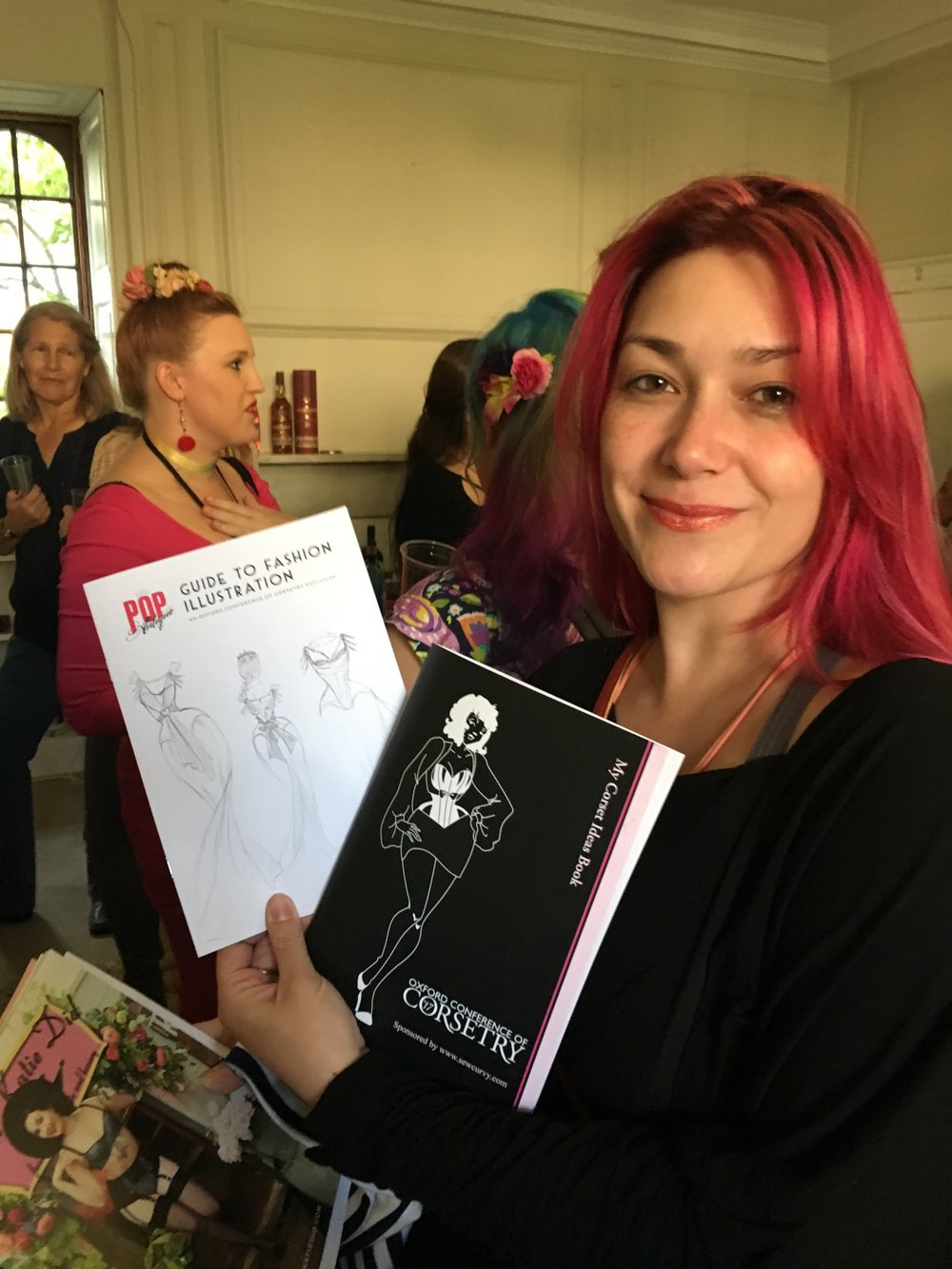 Marianne Faulkner of Pop Antique with her illustration - our pin up girl for the conference.