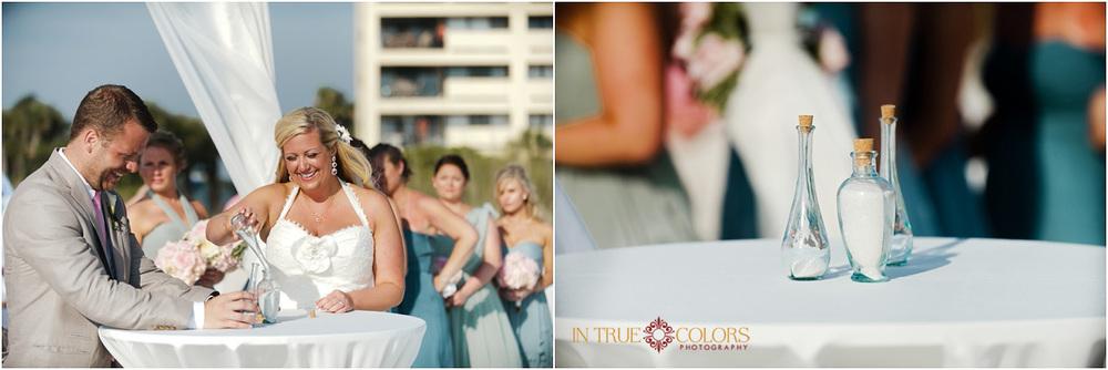 Wedding sand ceremony, Siesta Key beach