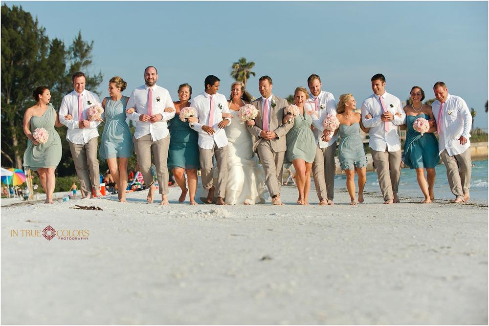 Wedding bridal party, Sarasota Florida