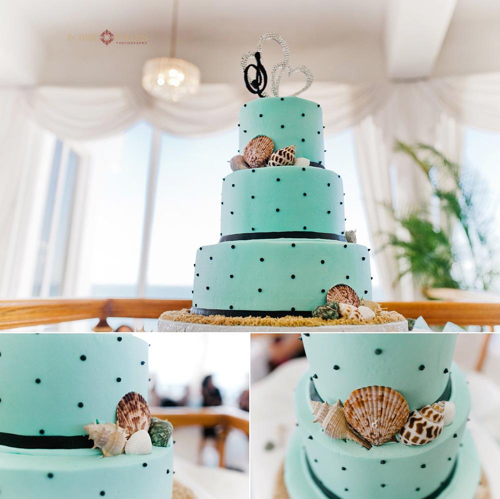 Wedding cake, reception at Grand Plaza hotel