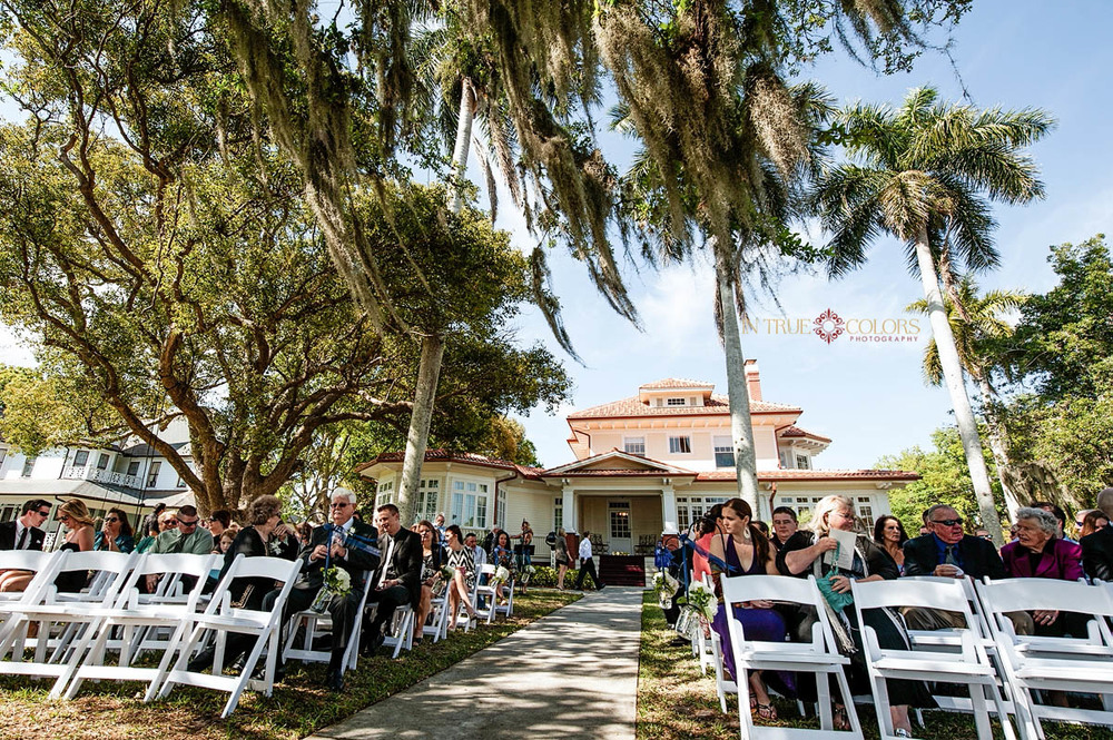 Palmetto Riverside bed and breakfast wedding, outdoor ceremony