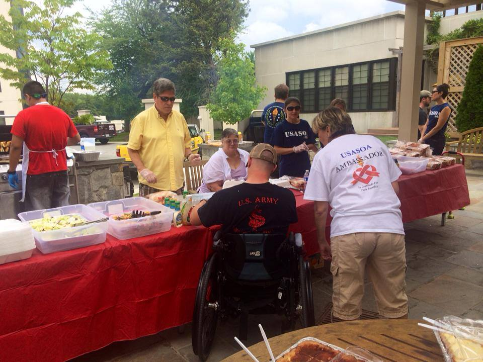 USASOA BBQ FOR OUR HEROES at Walter Reed Military Hospital