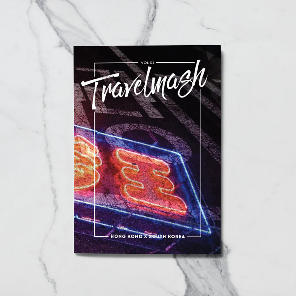TRAVELMASH |  There's no boundary at sharing stories. Collecting images and typographic characters that form identity of two different cities are way of telling stories too. And that's what Travelmash initiated for, with HK x Seoul on the first volume as part of  Zine in Your Pocket  series.  IDR 35.000   (Price above excludes shipping cost)  Bookpaper, full colour Book dimension: 13 x 9 cm
