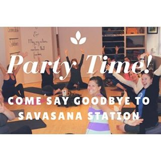 We're having a party! 🎉Join us for the last day in the studio to celebrate the community we've built here at Savasana Station. 💕 Wednesday, May 31st 7:30pm-9:30pm. Hope to see you there!