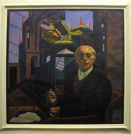 Francis Criss (1901-1973) The Thinker, n.d. oil on canvas; 26 x 25 inches