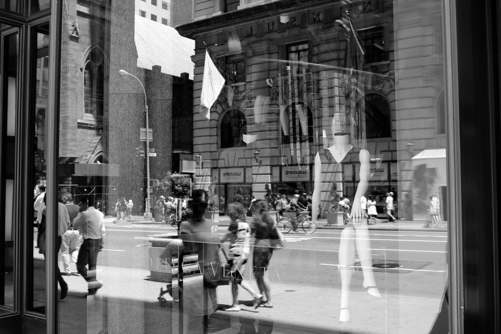 Robert Miller Windows, Fifth Avenue, 2012 c-print; 24 x 34 inches