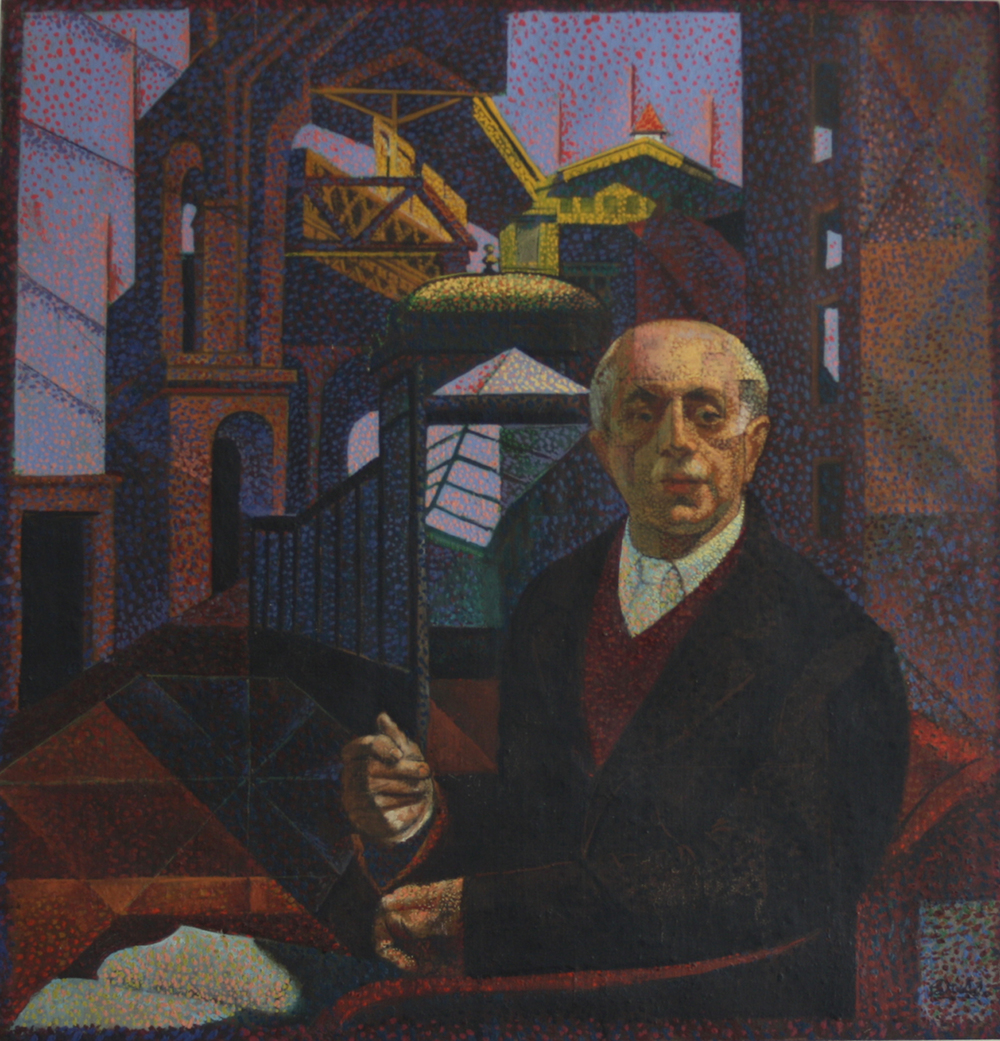 Francis Criss (1901-1973)  The Thinker , c. 1940 Oil on canvas 26 x 25 inches. signed:  l. r. Criss