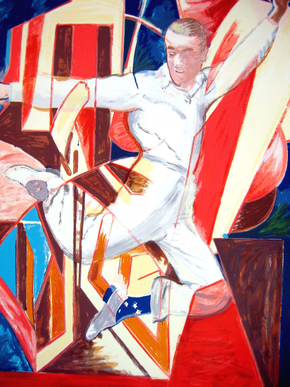 Larry Rivers  Astaire in the Air , 1990 Screen print (artist's proof. 1/12.  ed. 65); signed, dated, and numbered 55 x 40  inches