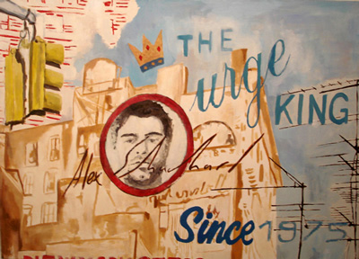 Alex Schuchard  The Urge King - Since 1975 , 2007 Oil on Canvas; 36 x 48 inches