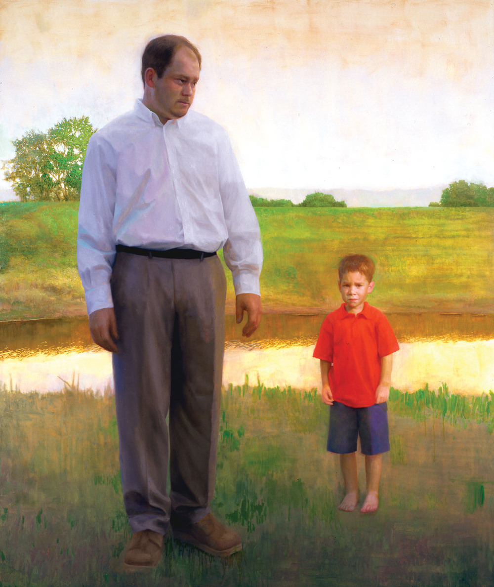 Father to Son , 2003  oil on linen  96 x 80 inches