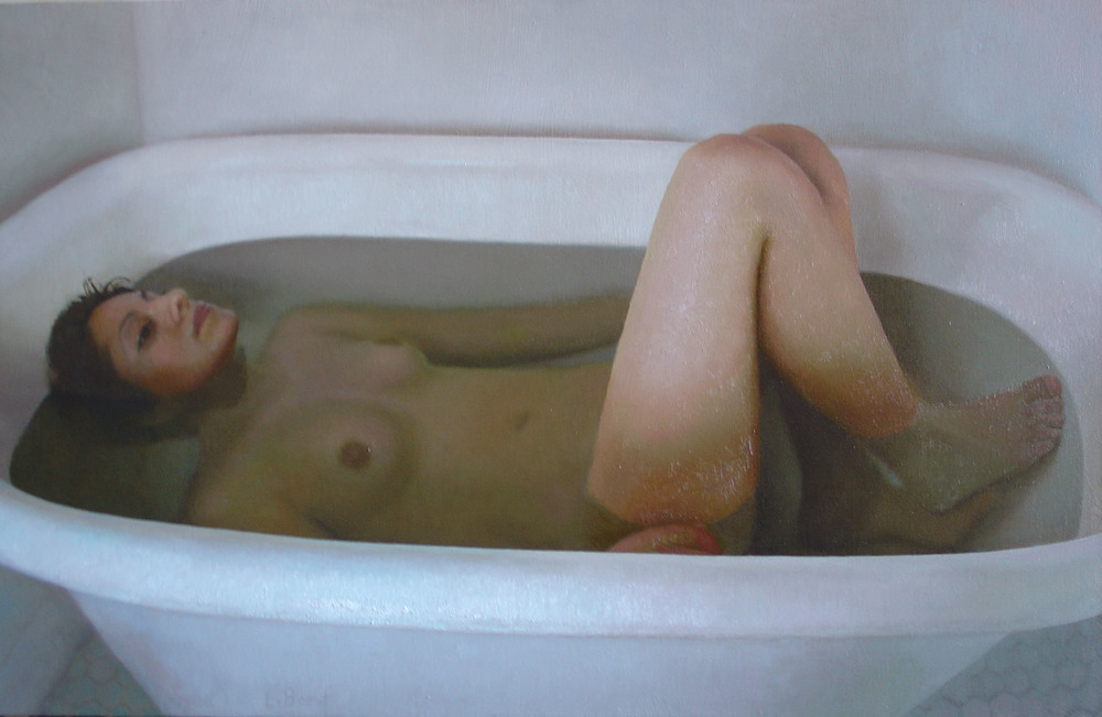 Bryan LeBoeuf   Vessel,  2004  oil on linen  22 x 34 inches