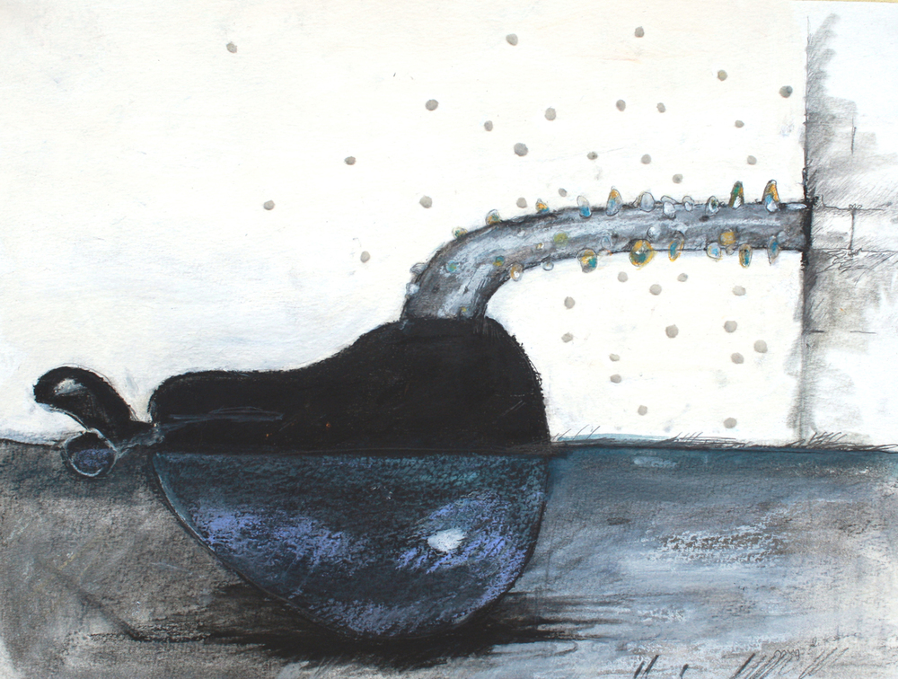 Jennifer Odem Submerged, 2012 charcoal, pencil, pastel, on paper 12 x 16 inches