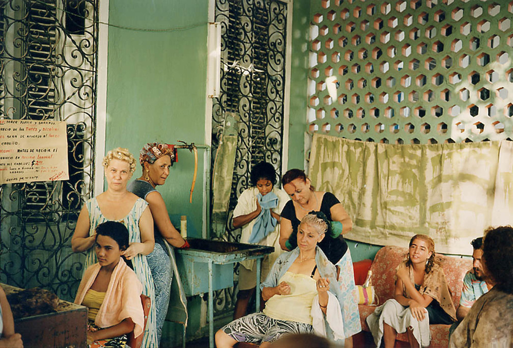 Tria   Giovan     Beauty Salon-Havana, Cuba,   1996    Edition of 30; #6/30    Archival pigment print    29 x 42 ½ inches