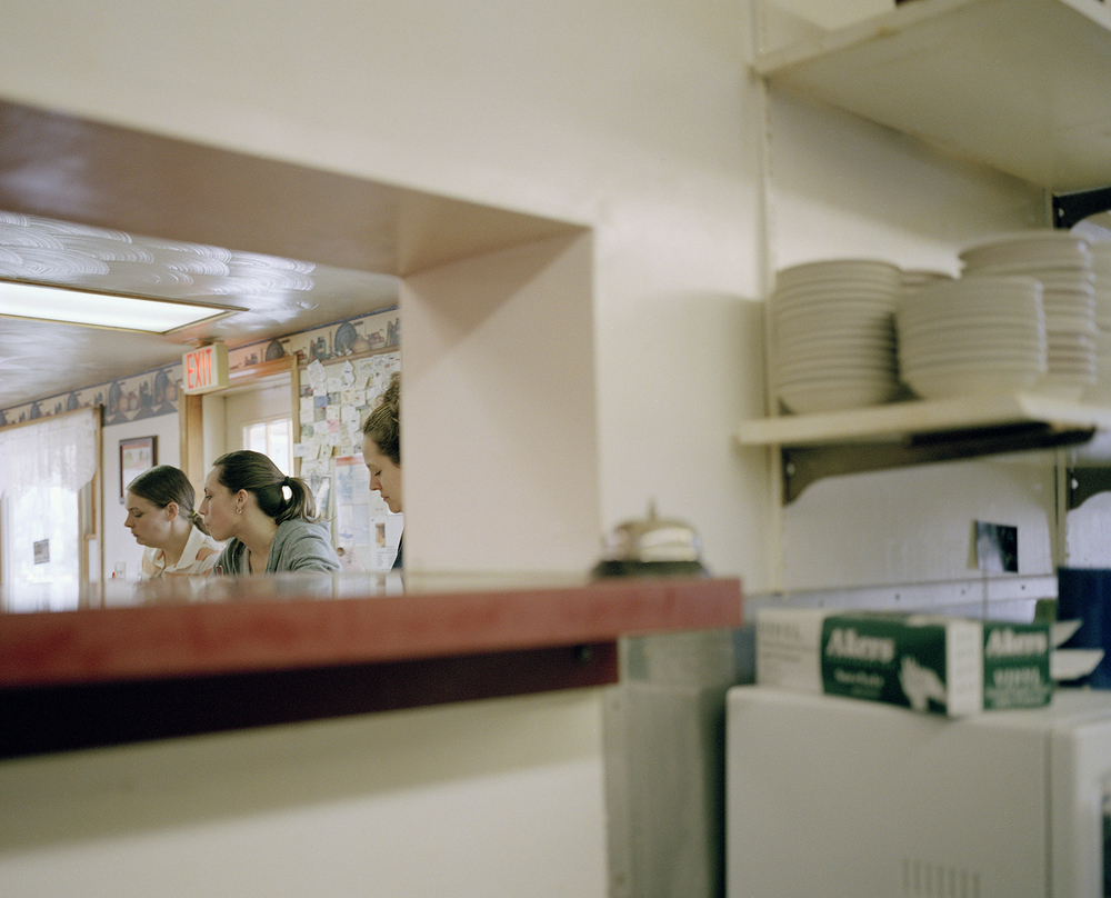 Jennifer, Chrissy and Terry, Pam's Diner, Cleveland, NY.   , 2007    Ink jet print, edition of 5 + 2AP    9.5 x 11.75 inches