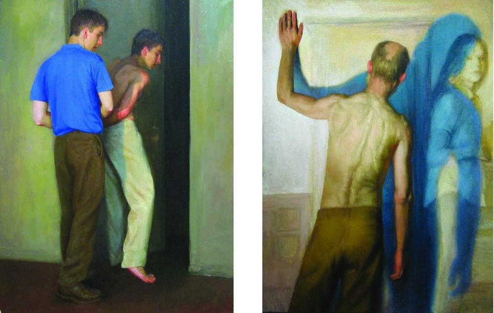 Bryan LeBoeuf   Memory Foreclosure , 2004   Oil on linen     18 x 24 (each)