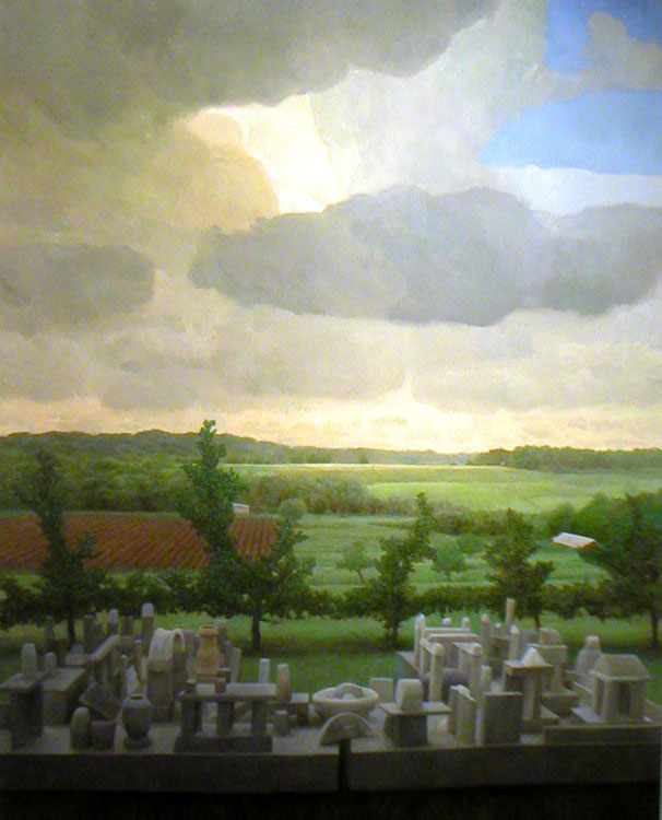 Bryan LeBoeuf   Artificial Landscape , 2005   Oil on linen     60 x 48 inches