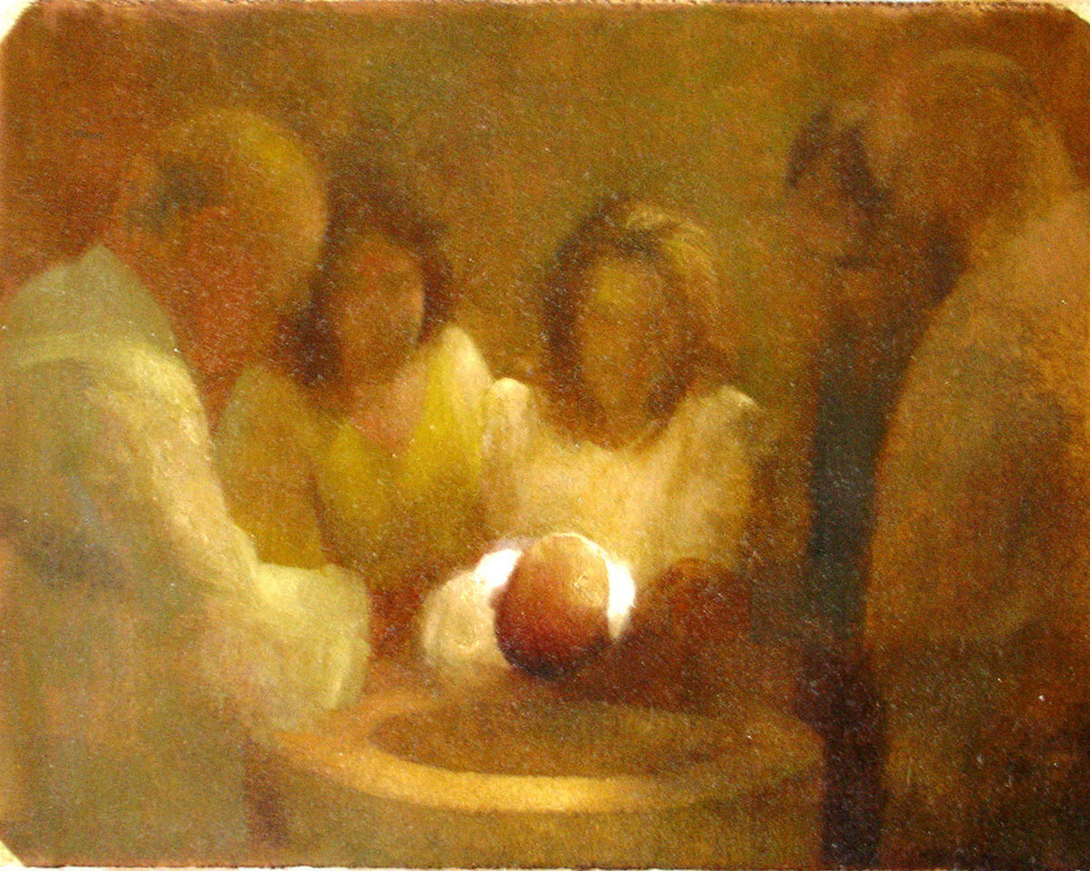 Bryan LeBoeuf   Baptism , 2006   Oil on paper     9.5 x 12.75 inches