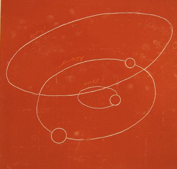 Leslie Lerner     Red Cosmos,    2003    Intaglio print     22 x 20 inches