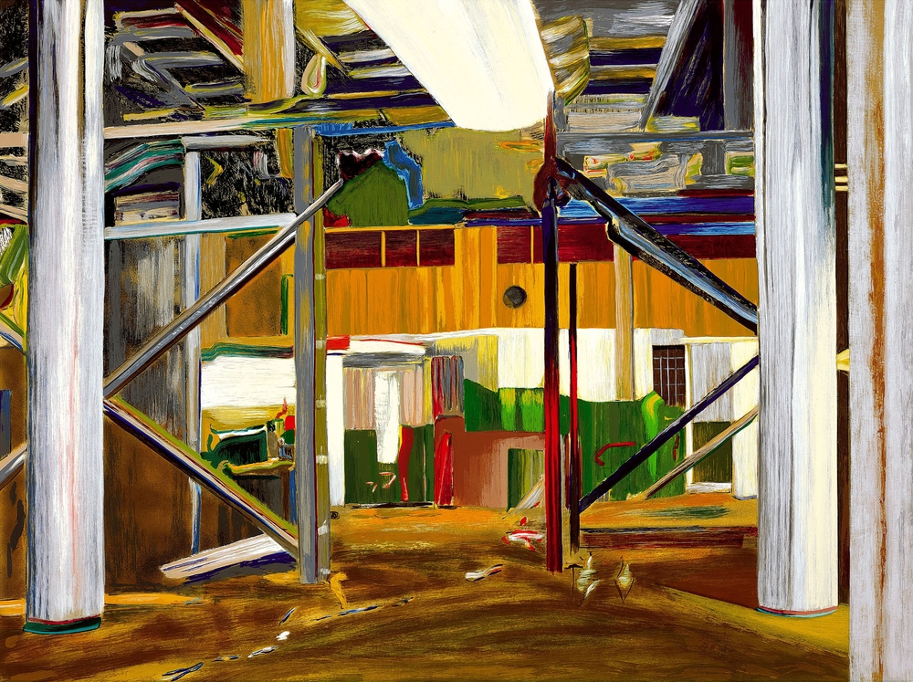 Larry Dinkin     Interior Landscape   , 1999    Screen print; Ed. of 160    36 x 46 inches