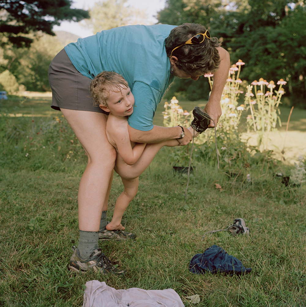 Rebecca Soderholm     Mary Beth and Asa, Keene Valley, NY,  2005    Inkjet print, edition of 7    22 x 22 inches