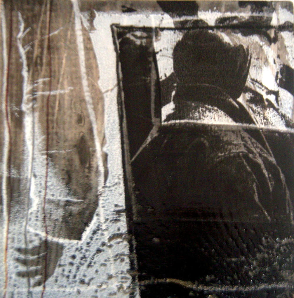 Marian Moratinos     Untitled (from the Metropolis Project series,) 2004    Mixed media on wood    5.5 x 5.5 inches
