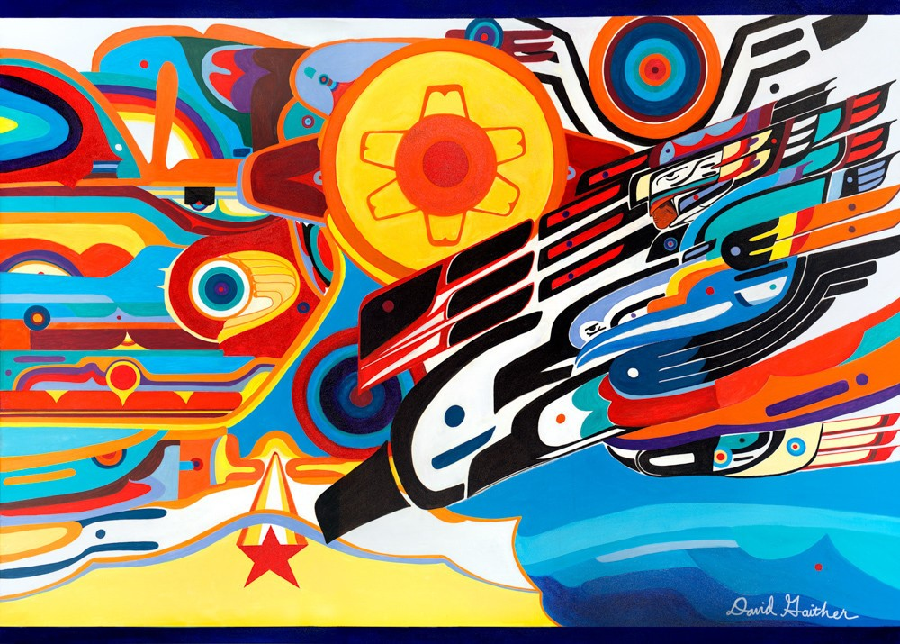 The Grand Mural , 2013  acrylic and composite paints on canvas  60 x 84 inches