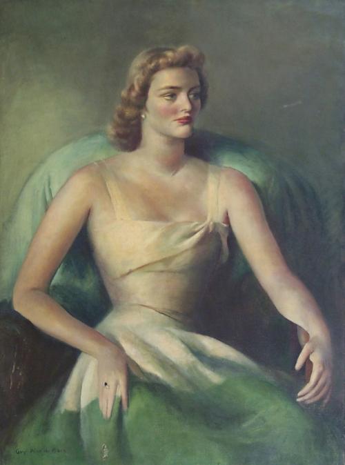 Guy Pène du Bois, Girl in Yellow Evening Dress , ca. 1942