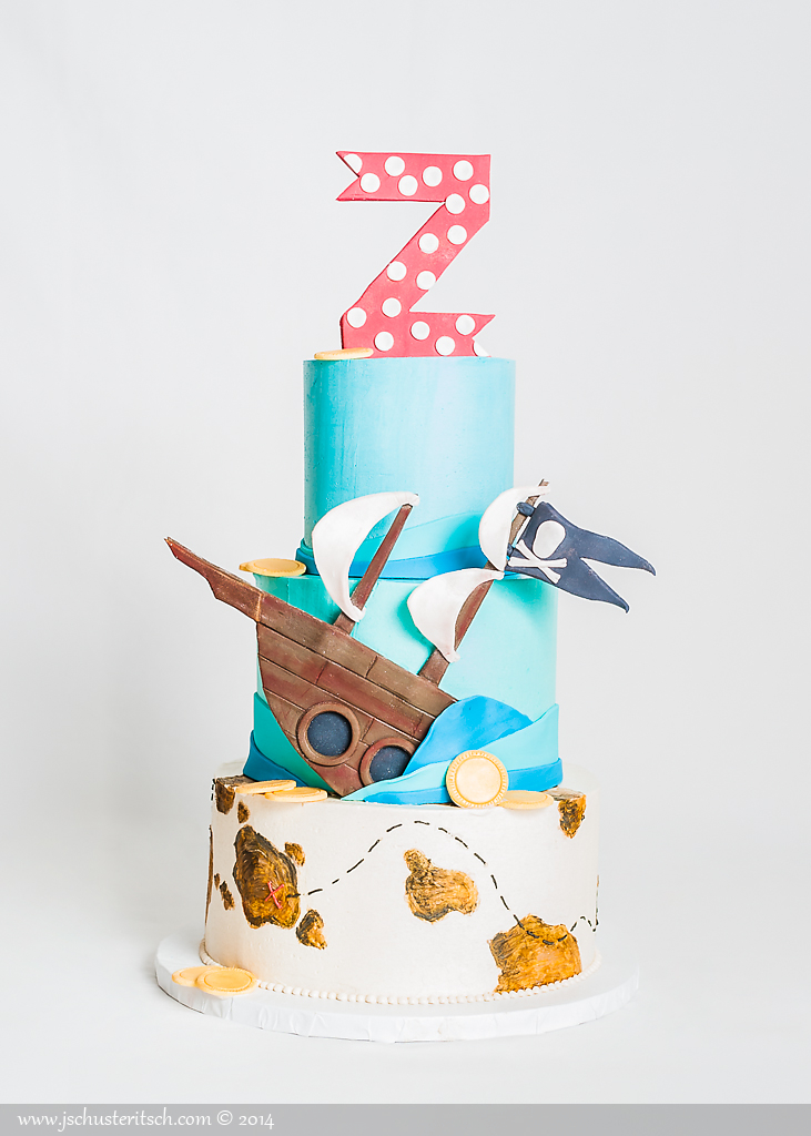 3 tier pirate cake - sugar lane cake shop