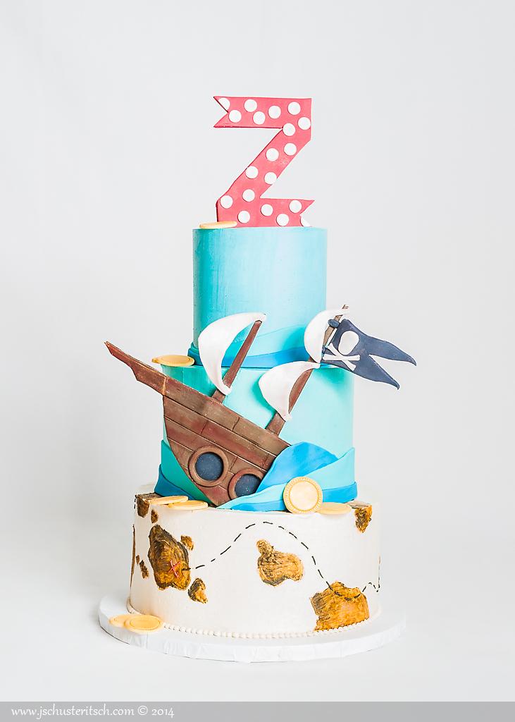 3 tier pirate cake - sugar lane cake shop