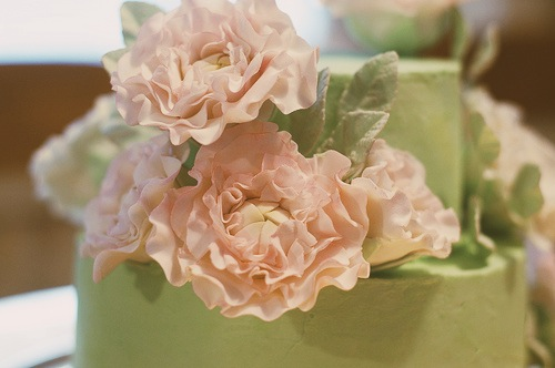 mint peony cake - sugar lane cake shop