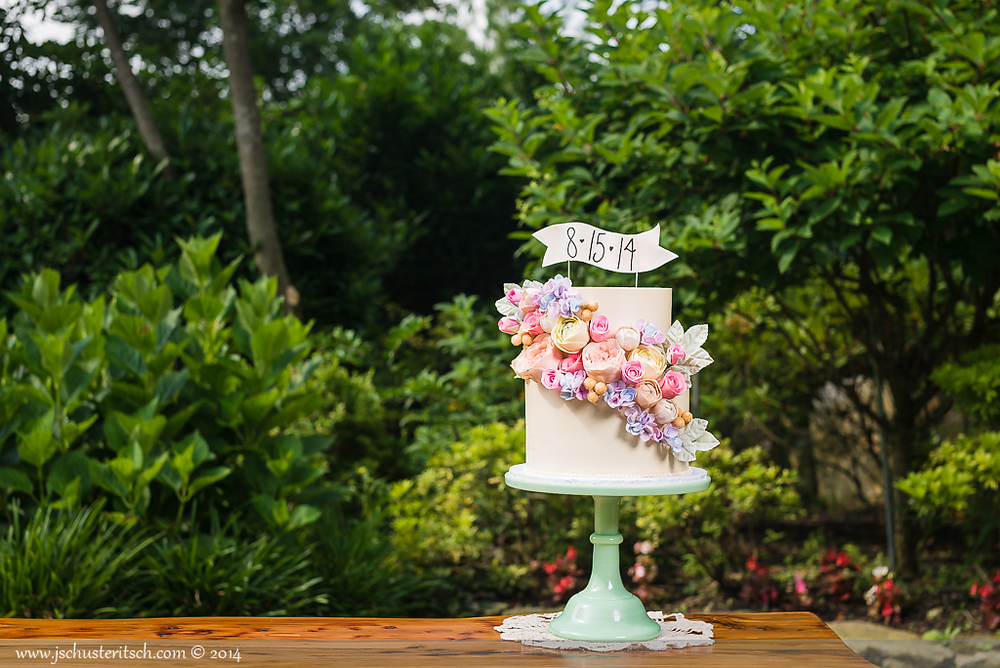 Brunch & Bubbly Bridal Shower Cake - Sugar Lane Cake Shop