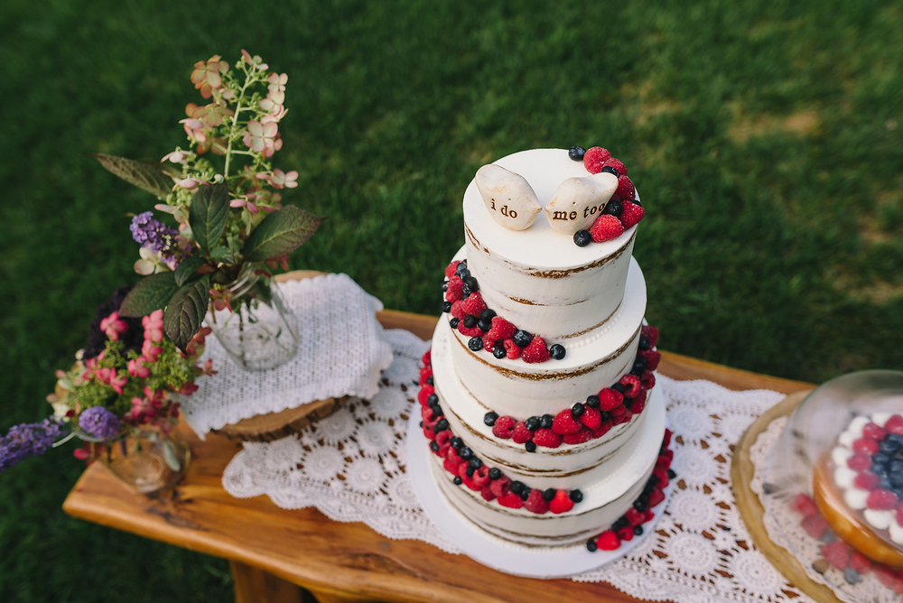 Naked Berry Wedding Cake - Sugar Lane Cake Shop