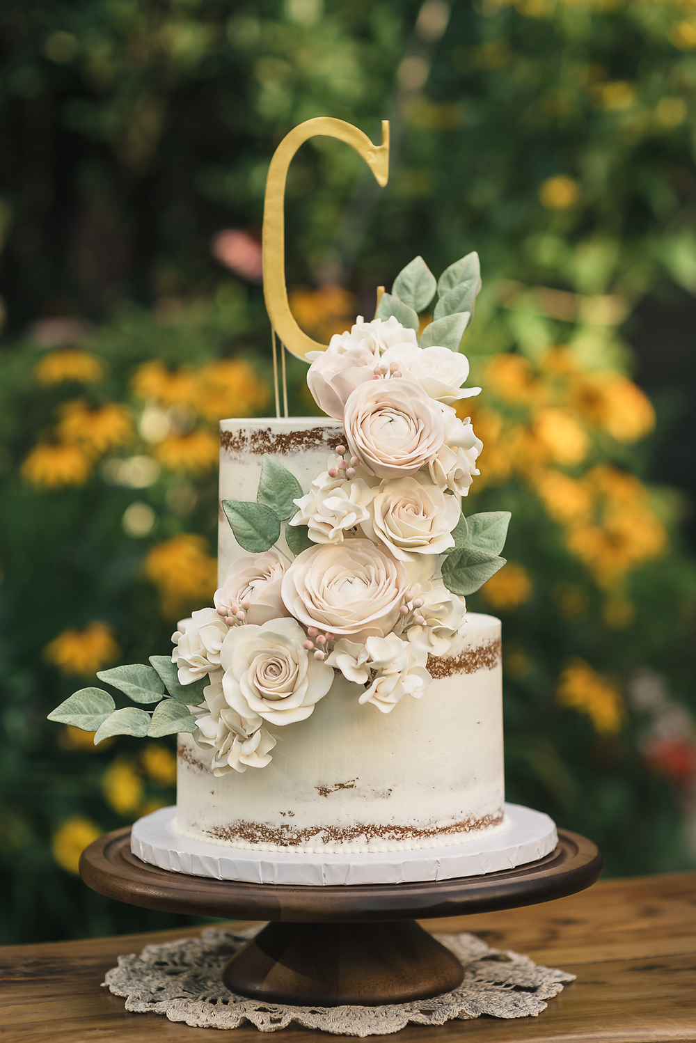 Upstate Naked Wedding Cake - Sugar Lane Cake Shop