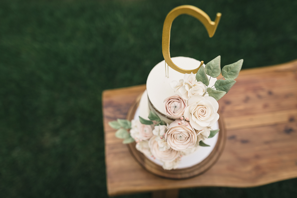 Upstate Naked Wedding Cake - Sugar Lane Cake Shop