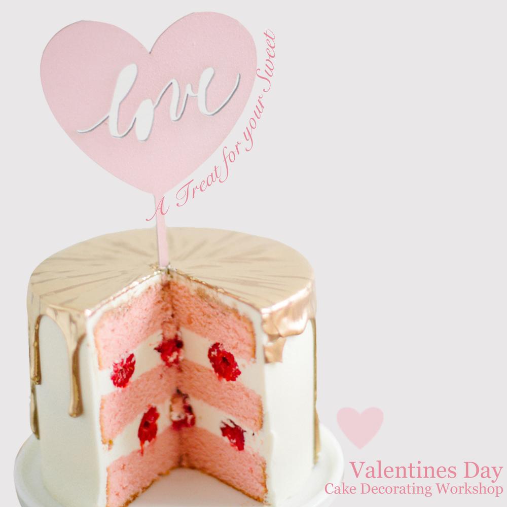 VDay Cake Decorating Workshop - Sugar Lane Cake Shop