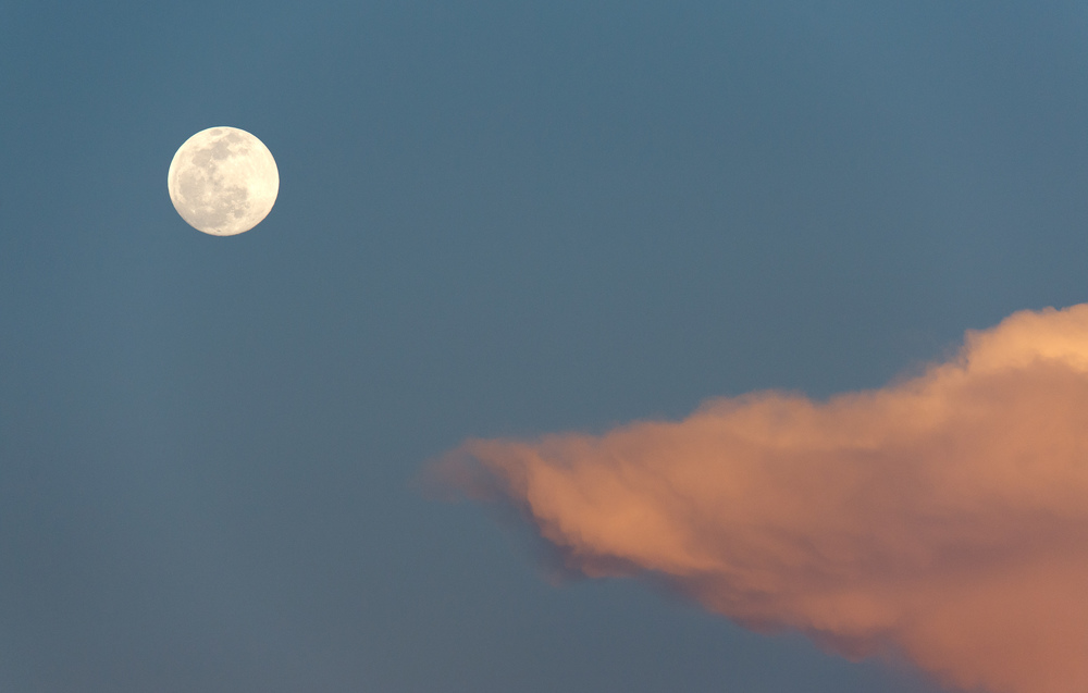 Shot with a Nikon 400mm f2.8 lens and Nikon D4 camera to get the moon big.