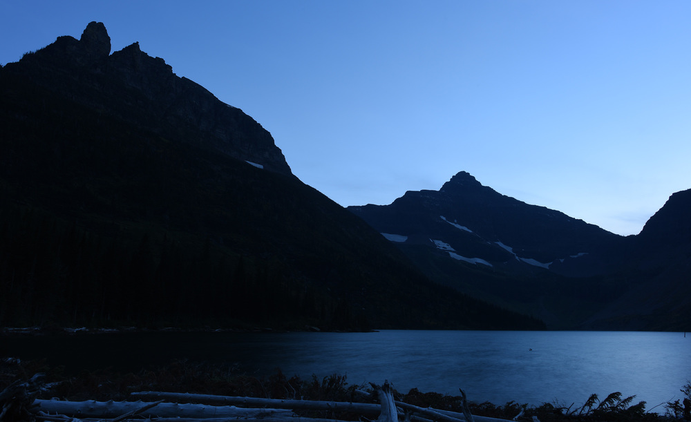 My second night campsite was very close to Upper Two Medicine Lake and a great view at dusk.