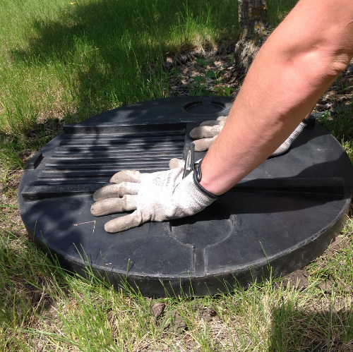 Step 6: Cover the ant hill with a sheet of plywood or a garbage can lid with a rock on it for a few days. Repeat application if nest returns. Always use these sprays early in the morning or later at night, and hold off if you are expecting rain within a few hours of the treatment.