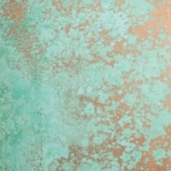 Green Patina  over copper.