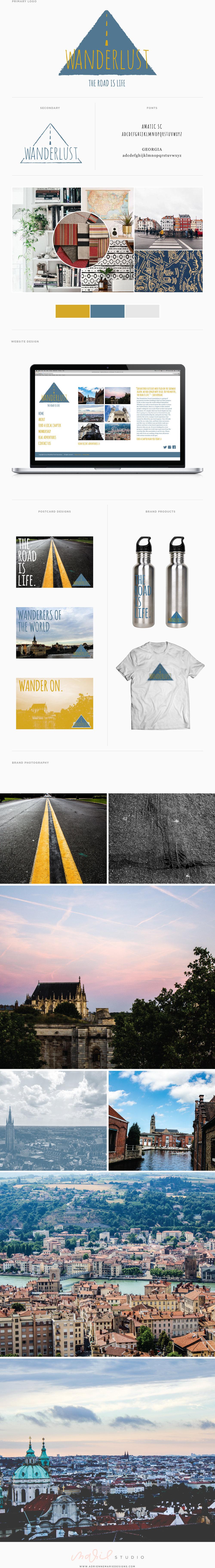Wanderlust Brand Guide : Marie Studio